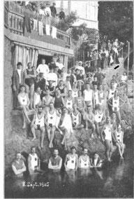 Wettkampf in Abbazia 1905. Bild: ©