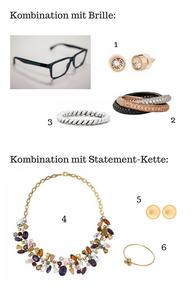 Kombination von Brille & Schmuck