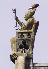 Saint Pierre dans son fauteuil appelé : cathèdre