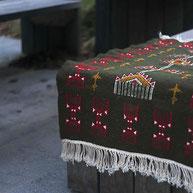 petit tapis kilim berbere coloré tunisien, Tapis deco bohème ethnique, tapis tunisien, Tapis kilim vert, berbère, deco, tapis de chambre, tapis décoratif pour salon ou entrée, déco ethnique chic, vert