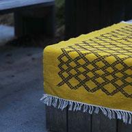 petit tapis kilim berbere coloré tunisien, Tapis deco bohème ethnique, tapis tunisien, Tapis kilim jaune, berbère, tapis de chambre, tapis décoratif salon, entrée, déco ethnique chic