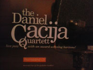 """Daniel Cacija Quartett"" Live at the Jazz Keller in Frankfurt, Promo CD"