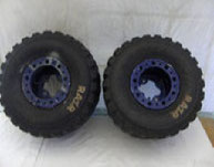 Blaue Quad Felgen Größe