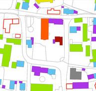 Bestand: Öffentliche und private Gebäude in der Ortsmitte  einschließlich Gebäudeleerstand. © Klaus Schulz|Almuth Boedecker