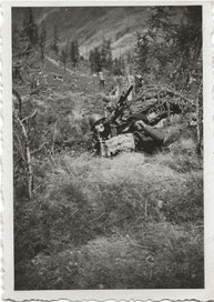 Juin 1940 - Col de la Cayolle - poste de combat et guet anti-aérien (IIe bataillon)