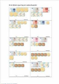 Conocer las monedas y billetes