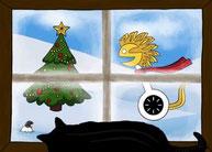 """Weihnachtsgeschenk - Gutschein in Leipzig - Motiv """"Weihnachten Fenster - Segway"""""""