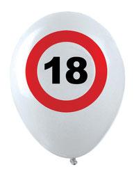 Ballonnen verkeersbord 12stuks € 3,40