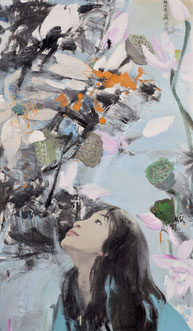 何处惹尘埃 ALWAYS NOTHING 120X70CM  布面油画  OIL ON CANVAS  2012 (收藏于日本 COLLECTED IN JAPAN)