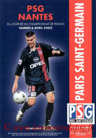 Programme  PSG-Nantes  2001-02