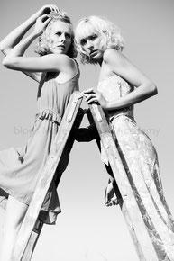 Haare & Make-up / Schüler: Marieme B.   Model: Charlotte, Helena   Agency: JAVA People, Model Management   Produktion: bloos Make-up & Hair Academy   Foto: Markus Thiel