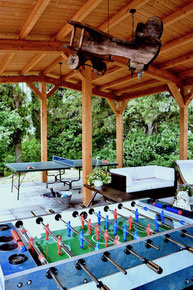 entertainment, foosbal, soccer table, ping pong, external lounge, gazebo, Arezzo, Tuscany, Toscana, Agriturismo, casa vacanze