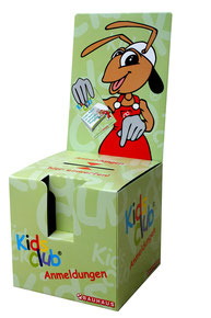Gewinnspielbox aus Pappe