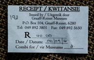 A combination ticket for various museums in Graaff-Reinet, South Africa.