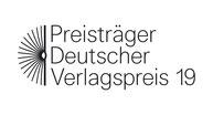 """Logo """"Preisträger Deutscher Verlagspreis 2019"""""""