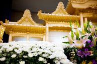 葬儀場の祭壇 白菊2