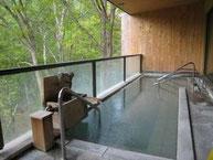 [春]露天風呂からの眺め