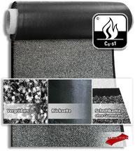 MERTEX-Shop - Sauberlaufmatte, OBJEKTWARE Schmutzfang, 3 Farben, Polyamid, Velours, Vinyl, schwarzer Gummirand