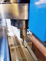 VeIso#50 boring mill taper with M24 x 3 drawbar 0.012 mm (0.0005 inch) maximum runout, measured @ spindle face, here shown with a milling cutter instead of an FSW tool.