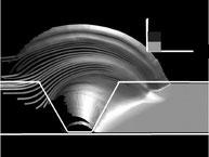 3D-Modellierung der Flusslinien des plastifizierten Materials um ein FSW-Werkzeug