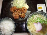 唐揚げセット(うどん1玉)