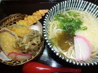 天ぷら+(温)素うどん