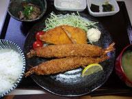 大海老フライ定食(2本)