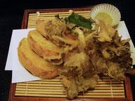 カボチャとマイタケの天ぷら