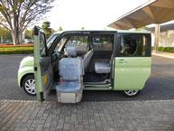 電動式座席の福祉車両