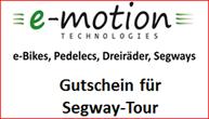 e-motion Tuttlingen Segway Gutschein