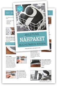 Anleitung für das Buchstabenkissen, zum Download auf www.die-kleine-designerei.com