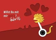 """Segway-Tour Geschenk zum Valentinstag - Gutschein in Leipzig - Motiv """"Herzen"""""""