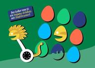 """Gutschein Segway-Tour in Leipzig - Motiv """"Das Gelbe vom Ei"""""""