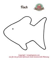 Spielbuch Fühlbuch Schablone Fisch