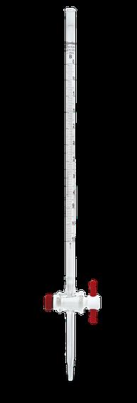 Bureta recta clase A serializada y certificada con llave de PTFE 17027F