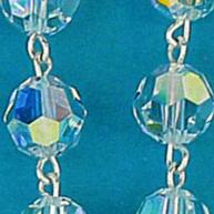 rosari argento cristallo