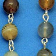 rosari argento pietre dure naturali