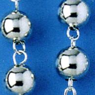 rosari argento liscio
