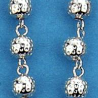 rosari argento lavorato