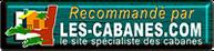 """logo du site de spécialisé dans les cabanes """"les cabane .com"""" ou nous apparaissons"""