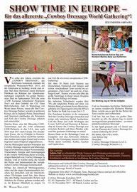 Artikel Erstes European Cowboy Dressage Gathering 2017 in der Ausgabe 4/2017 der Western News, dem Westernmagazin der AWA Österreich