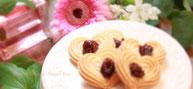 オーガニックチェリーハート米粉クッキー