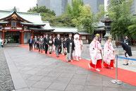 赤坂 日枝神社 親戚の結婚式