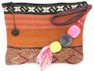 frazada clutch bag tas vintage wol kleed