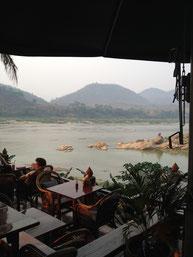 Zusammenfluss Nam Khan und Mekong