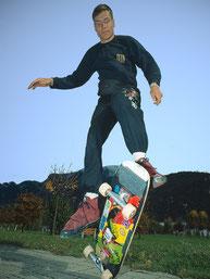 50/50-Flip, Guenter Mokulys. Skateboardbusiness.de