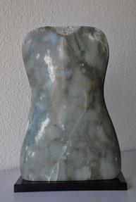 Elegante Frau Speckstein Skulptur