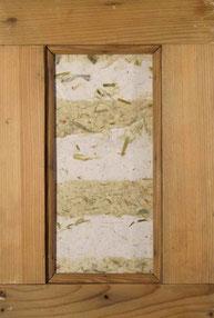 PAPIER-art ART-papier, Papierbild im Antikrahmen mit Papier aus verschiedenen Zellstoffarten , Michaela Metzler, Mattsee, Salzburger Seenland