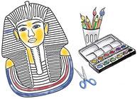 Ägyptische Maske basteln