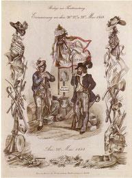 Erinnerungsblatt an die studentische Revolution 1848.